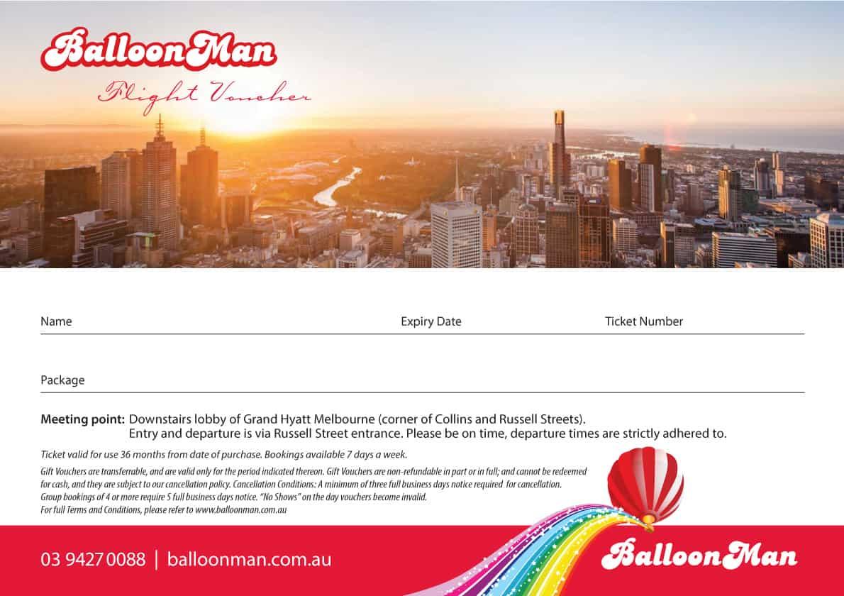 Hot Air Balloon Melbourne Gift Voucher